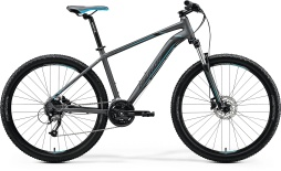 "Велосипед Merida Big.Seven 40-D 27.5"" MattDarkSilver/Blue/Black (2020)"