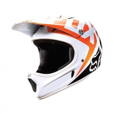 Велошлем Fox Rampage Race Helmet White/Orange