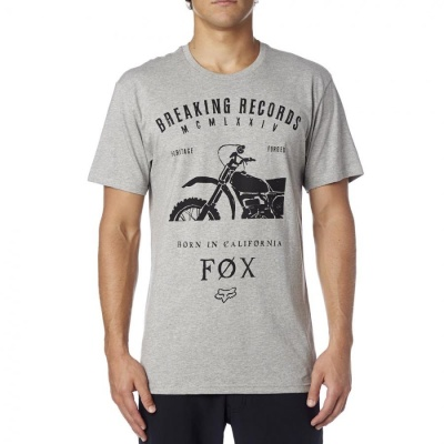 Футболка Fox Boxed Out SS Tee Heather Grey