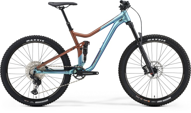 "Велосипед Merida One-Forty 600 К:27.5"" Р:M(17"") SilkBronze/Blue 2021 (6110878594)"